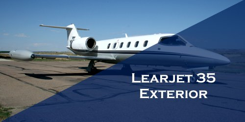 Learjet 35 exterior Light Charter Jet